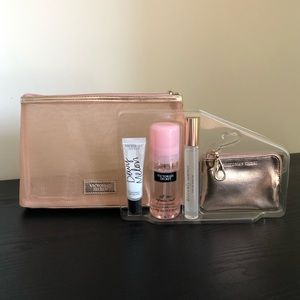 VS bundle of lippy , spray, roller and coins bag